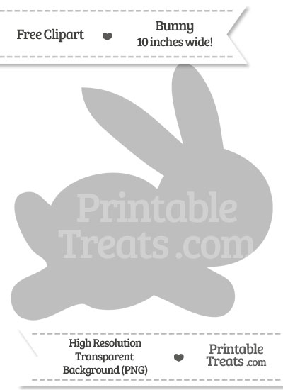 Pastel Light Grey Bunny Clipart from PrintableTreats.com