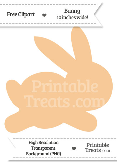 Pastel Light Orange Bunny Clipart from PrintableTreats.com