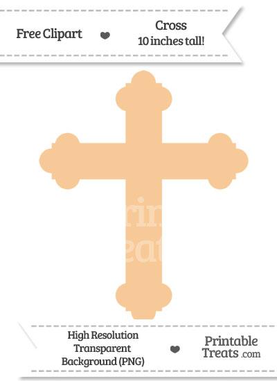Pastel Light Orange Cross Clipart from PrintableTreats.com