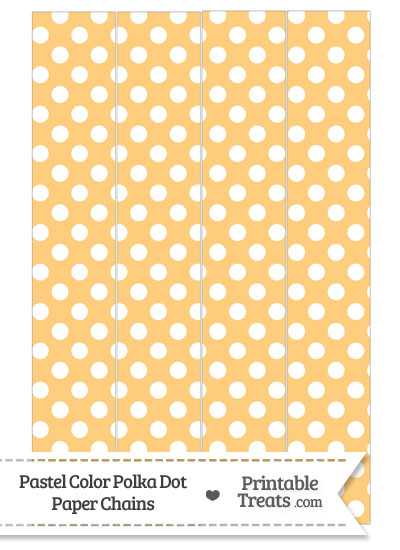 Pastel Light Orange Polka Dot Paper Chains from PrintableTreats.com