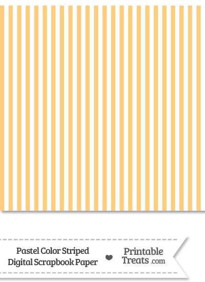 Pastel Light Orange Striped Digital Scrapbook Paper from PrintableTreats.com