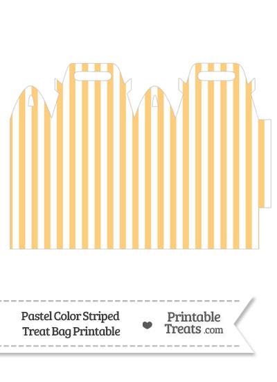 Pastel Light Orange Striped Treat Bag from PrintableTreats.com