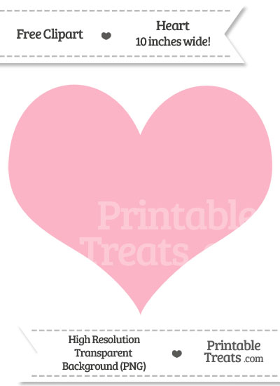 Pastel Light Pink Heart Clipart from PrintableTreats.com
