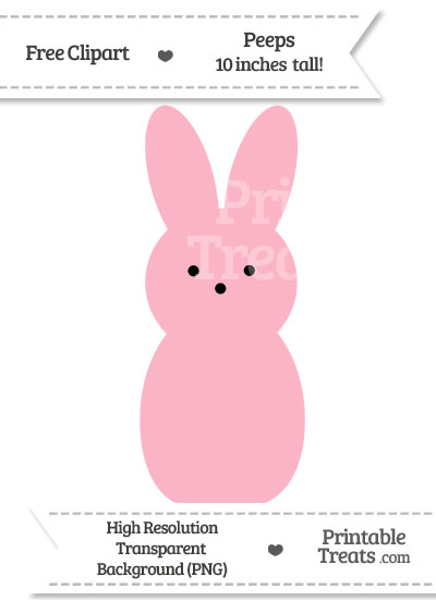 Pastel Light Pink Peeps Clipart from PrintableTreats.com