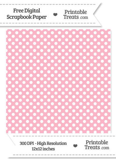 Pastel Light Pink Polka Dot Digital Paper from PrintableTreats.com
