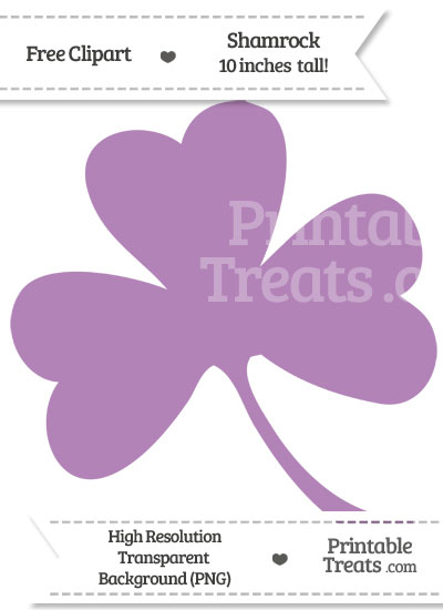 Pastel Light Plum Shamrock Clipart from PrintableTreats.com