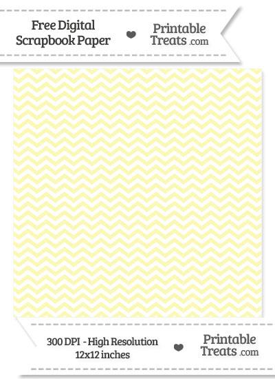 Pastel Light Yellow Chevron Digital Paper from PrintableTreats.com