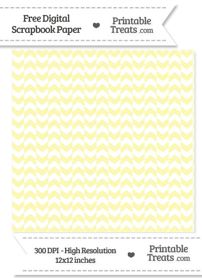 Pastel Light Yellow Herringbone Digital Paper from PrintableTreats.com