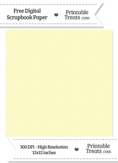 Pastel Light Yellow Mini Polka Dots Digital Paper from PrintableTreats.com