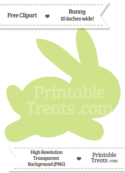 Pastel Lime Green Bunny Clipart from PrintableTreats.com