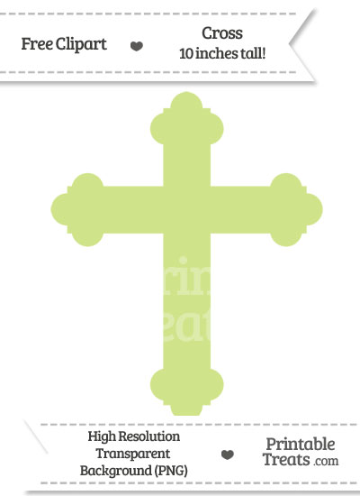 Pastel Lime Green Cross Clipart from PrintableTreats.com