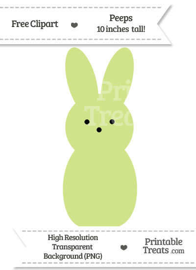 Pastel Lime Green Peeps Clipart from PrintableTreats.com