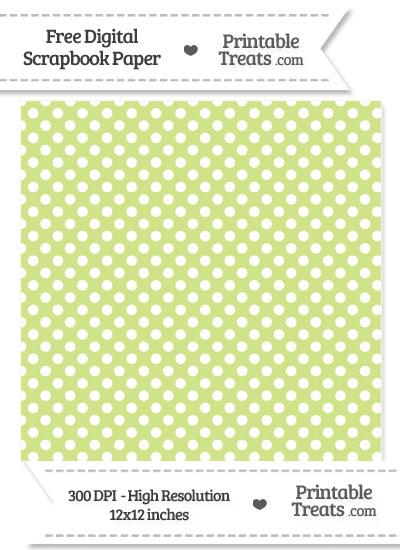 Pastel Lime green Polka Dot Digital Paper from PrintableTreats.com