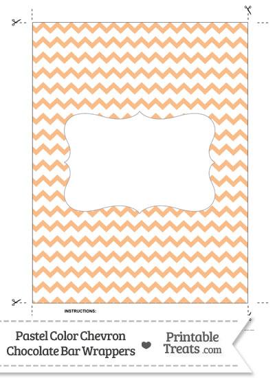 Pastel Orange Chevron Chocolate Bar Wrappers from PrintableTreats.com
