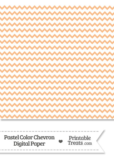 Pastel Orange Chevron Digital Scrapbook Paper from PrintableTreats.com