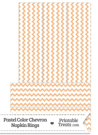 Pastel Orange Chevron Napkin Rings from PrintableTreats.com