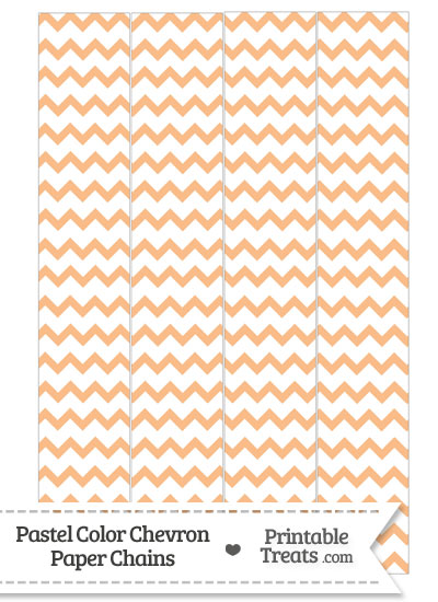 Pastel Orange Chevron Paper Chains from PrintableTreats.com