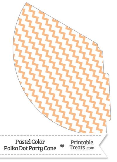 Pastel Orange Chevron Party Cone from PrintableTreats.com