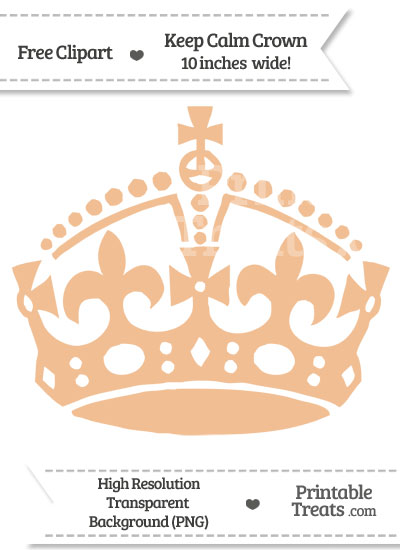 Pastel Orange Keep Calm Crown Clipart from PrintableTreats.com