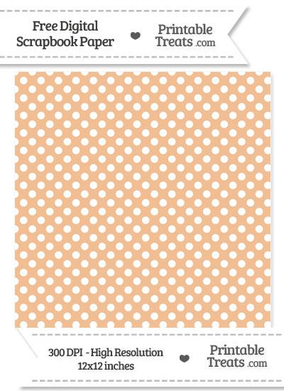 Pastel Orange Polka Dot Digital Paper from PrintableTreats.com