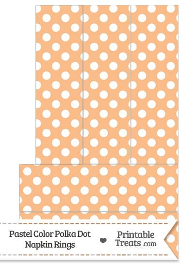 Pastel Orange Polka Dot Napkin Rings from PrintableTreats.com
