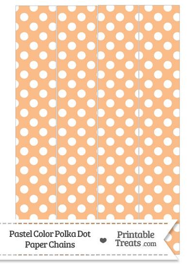 Pastel Orange Polka Dot Paper Chains from PrintableTreats.com