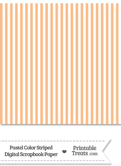 Pastel Orange Striped Digital Scrapbook Paper from PrintableTreats.com