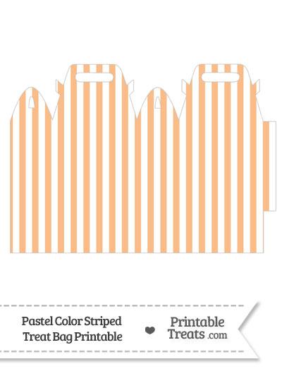 Pastel Orange Striped Treat Bag from PrintableTreats.com