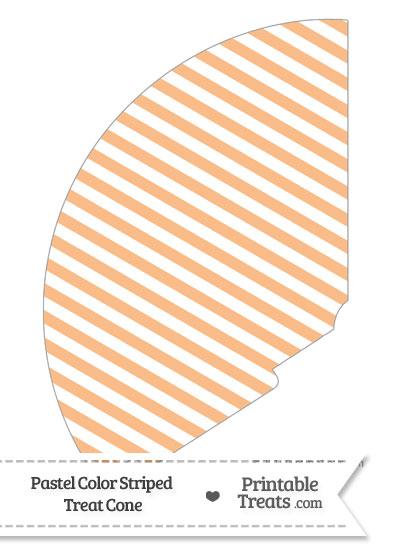 Pastel Orange Striped Treat Cone from PrintableTreats.com