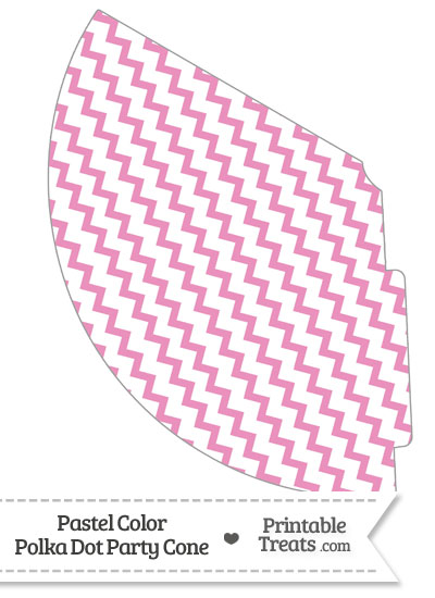 Pastel Pink Chevron Party Cone from PrintableTreats.com