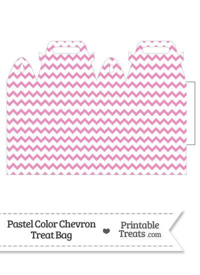 Pastel Pink Chevron Treat Bag from PrintableTreats.com