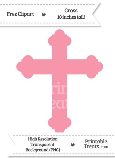 Pastel Pink Cross Clipart from PrintableTreats.com