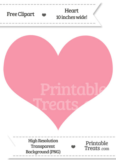Pastel Pink Heart Clipart from PrintableTreats.com