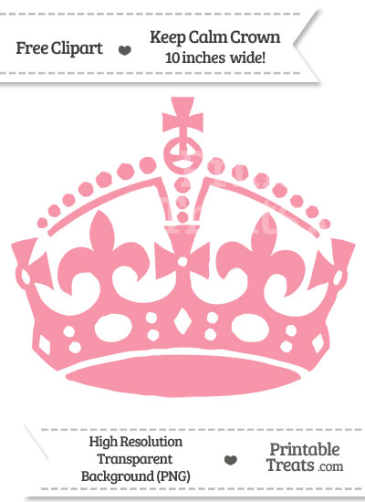 Pastel Pink Keep Calm Crown Clipart from PrintableTreats.com