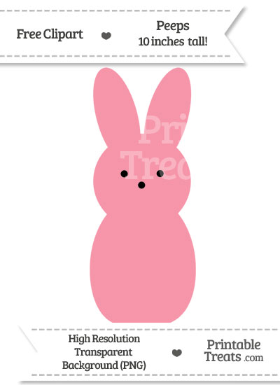 Pastel Pink Peeps Clipart from PrintableTreats.com