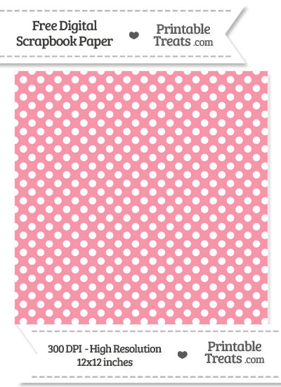 Pastel Pink Polka Dot Digital Paper from PrintableTreats.com