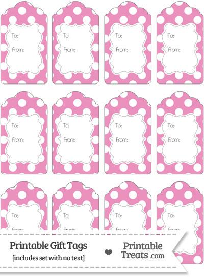 Pastel Pink Polka Dot Gift Tags from PrintableTreats.com