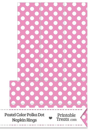 Pastel Pink Polka Dot Napkin Rings from PrintableTreats.com