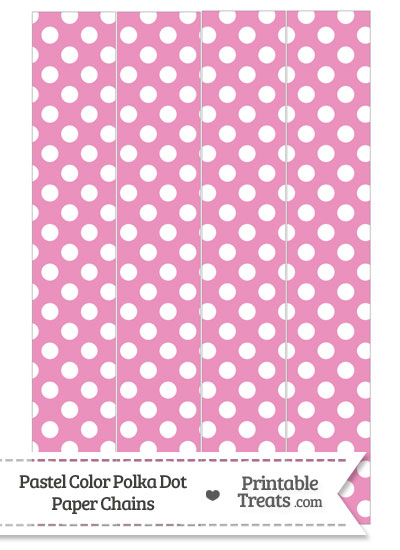 Pastel Pink Polka Dot Paper Chains from PrintableTreats.com