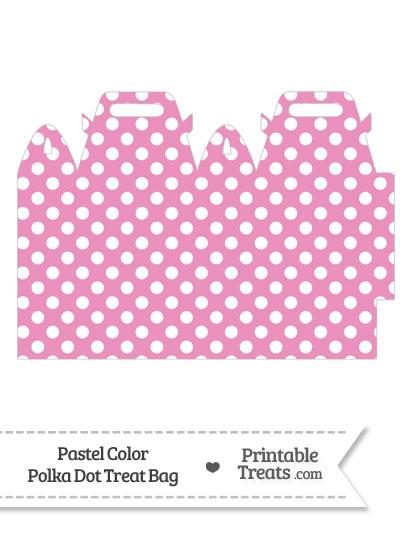 Pastel Pink Polka Dot Treat Bag from PrintableTreats.com