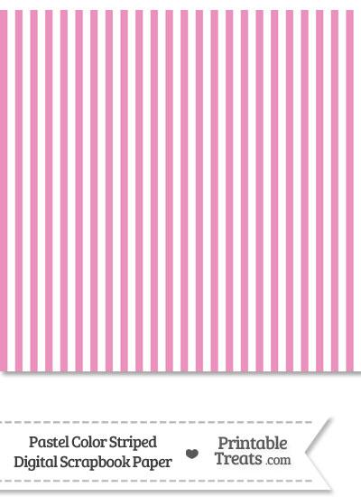 Pastel Pink Striped Digital Scrapbook Paper from PrintableTreats.com