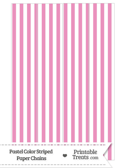 Pastel Pink Striped Paper Chains from PrintableTreats.com
