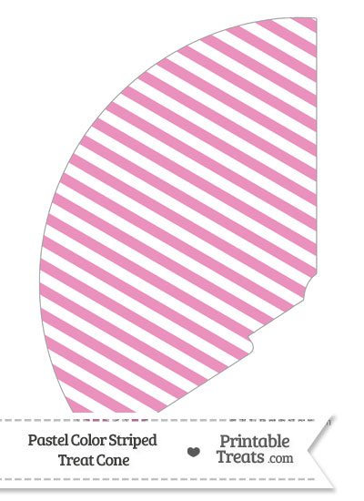 Pastel Pink Striped Treat Cone from PrintableTreats.com