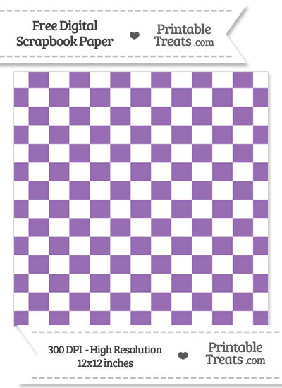 Pastel Plum Checkered Pattern Digital Paper from PrintableTreats.com