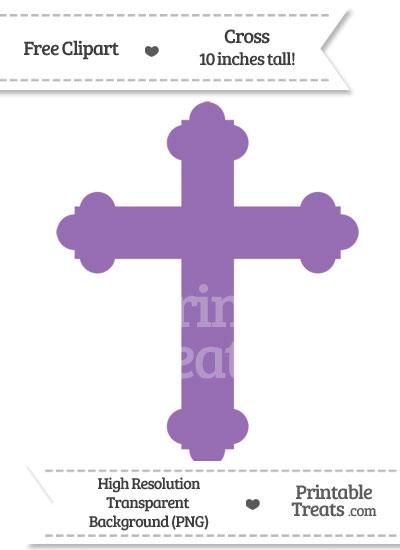 Pastel Plum Cross Clipart from PrintableTreats.com