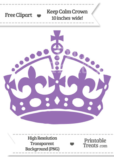 Pastel Plum Keep Calm Crown Clipart from PrintableTreats.com