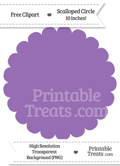 Pastel Plum Scalloped Circle Clipart from PrintableTreats.com
