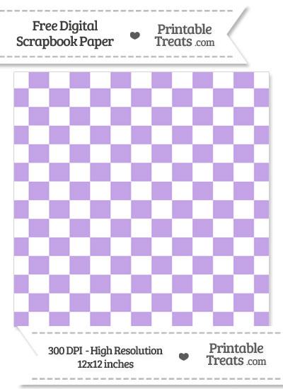 Pastel Purple Checkered Pattern Digital Paper from PrintableTreats.com