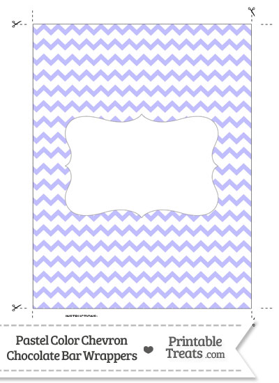 Pastel Purple Chevron Chocolate Bar Wrappers from PrintableTreats.com