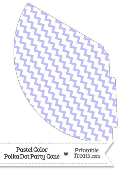 Pastel Purple Chevron Party Cone from PrintableTreats.com